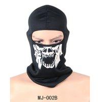kafatası maskeleri toptan satış-2020 Yeni Geldi Moda Bisiklet Kayak Kafatası Yarım Yüz Maskesi Hayalet Eşarp Çoklu Kullanım Boyun Isıtıcı COD SICAK Kayak Bisiklet Maske