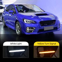 Wholesale cars subaru for sale - Group buy 2Pcs Car LED DRL Daytime Running Light For Subaru WRX Yellow Turning Style Relay Waterproof