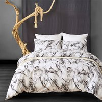 Wholesale orange bedding sets queen resale online - New Geometric Stripe Marble Print Simple Bedding Duvet Cover Sets Twin Queen King Size Comforter Bedding Set Home Decoration