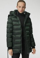 Wholesale belts brand names resale online - NEW women winter warm short style white duck down coat great quality brand name slim belted winter parkas for women size S XL