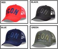 kamalı kamyon şapka kadınlar toptan satış-DSQ2 ICON Yaz Mesh Erkekler Beyzbol şapkası Kadın ICON Mektupları Yaz Beyzbol şapkası Kadın Kemik Baba Trucker Şapka Siyah Cap Baba Şapka