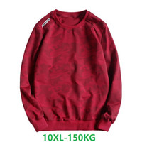 hoodie kırmızı adam toptan satış-Erkekler Tişörtü Siyah Moda Erkekler 2019 Artı Boyutu Hoodie Erkek Boy Giyim Crewneck Kazak Büyük Boy 6xl 8xl 10xl kırmızı