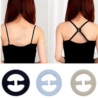 Wholesale wedding bras online - Women Invisible Bra Buckle Perfect Adjust Bras Strap Clip Cleavage Control opp bag package MMA1494