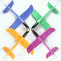 modelo de juguete de plástico a mano al por mayor-Juguetes para niños Tiro a mano Avión de vuelo Avión de espuma Modelo de avión Juguetes 48 cm Espuma de plástico avión de mano Juguetes KKA6997
