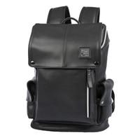 moda deri sırt çantaları toptan satış-Yeni Moda Erkek Sırt Çantası Kadın Çift Omuz Çantası Açık Seyahat Çantaları Erkekler Öğrenciler Sırt Çantaları için PU Deri Okul Çantaları
