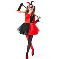 mulheres vestido zombie venda por atacado-Mulheres Halloween Cosplay pirata Clown Zombie escuro Decadence Santo nupcial Styling Nightclub Princesa do Natal Roupa Vestido