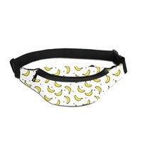 pochette banane achat en gros de-Banana Fruit Running Taille Sac Pour Hommes Imprimer Votre Propre Conception Ceinture Ceinture Sac Fanny Pack Femmes Téléphone Zipper Poche Unisexe Poitrine Sac