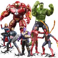 hareketli bebek mafsalları toptan satış-Yeni Avengers 4 Eylem Rakamlar Bebekler Ses Işık ve Ortak ile hareketli Karikatür superhero Rakamlar oyuncaklar L120