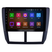 radio radio dvd android achat en gros de-9 pouces Android 9.0 HD écran tactile unité centrale GPS auto voiture pour 2008 2009 2010 2011 2012 Subaru Forester avec Bluetooth dvd de voiture de soutien 3G / 4G