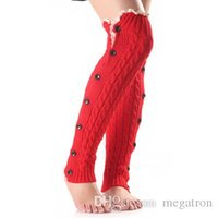Wholesale New Christmas lace lace button stockings for ladies leg warmers and knee warmers