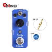 Wholesale mooer pedals free shipping resale online - Mooer Solo Distortion Pedal All sided high gain distortion suit for solo playing Full metal shell True bypass