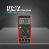 Wholesale ohms multimeter resale online - Digital Multimeter HY DC AC Voltage Current Meter Handheld Ammeter Ohm Diode Capacitance Tester Counts Multitester