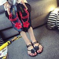 vadrouilles achat en gros de-Sexy2019 Bas Sandale Plate Vadrouille Froide Avec Des orteils Une Chaussure Deux Vêtements Loisir Bascules Pantoufles Femmes
