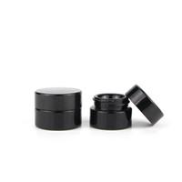 kosmetikglaskolben deckel geben verschiffen frei großhandel-Kosmetisches schwarzes Glasgefäß 5ml mit klassischem Schraubdeckel leeren Klecks-Glas-Konzentrat-Behälter 500pcs / Lot Freies Verschiffen