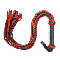 Wholesale woven sex resale online - Multiple black and red woven whip handles Black and red scorpion whip Couple adult health products sex flirt