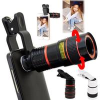appareil photo à zoom optique achat en gros de-Mode Mobile Universel Téléphone Portable HD 8X Clip sur Zoom Optique Télescope Lentille Nouvelle Téléphonie Mobile Accessoires