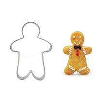 yılbaşı çerezleri şekiller toptan satış-Kurabiye Kalıpları Alüminyum Alaşım Gingerbread Erkekler Noel ağacı Hayvan Şeklinde DIY Pişirme Kalıpları Kurabiye Kesici Pişirme Araçları HHA869