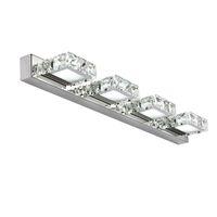 espelho k9 venda por atacado-AC85-265V Banheiro 3 W / 6 W / 9 W / 12 W de Luxo de moda K9 luzes de espelho de cristal luzes do banheiro do banheiro espelho de aço inoxidável