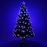 ingrosso stella di albero di natale blu-Christmas Pentagon Blue Optical Fiber Albero di Natale Deluxe Creative Gift Blue Star Christmas Tree