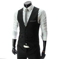 ingrosso vestiti grigi neri per gli uomini-Vestito di alta moda degli uomini del cotone degli uomini del nuovo vestito di alta qualità 2018 Vestito di affari di affari degli uomini high-end neri grigi