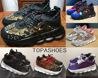 Wholesale casual lightweight shoes resale online - high quality Chain Reaction sneakes designer Sneakers Mens Women sport running leather Casual Shoes Trainer Lightweight sole