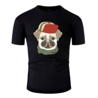 Wholesale t shirt hat pattern for sale - Group buy Hip Hop Humor Pug Dog In Fashion Hat T Shirt Gents Euro Size S xl Pattern Mens T Shirt Famous Hiphop Top Crew Neck