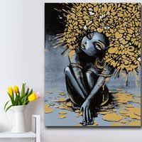 Wholesale sexy girls oil for sale - Group buy 1 Piece Wall Art Graffiti Pop Sexy Girl IV Bedroom Decor Wall oil Painting Print Nice Wall Picture For Living Room No Frame