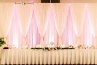 eis seide hochzeit großhandel-10X20ft Hochzeitshintergrund Und Swag Ice Silk Draping Crutain Für Hochzeit Verlobungsfeier Dekoration