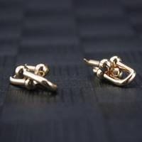 ingrosso nichel in lega di stagno-orecchini donna oro 18 carati gioielli di design donna di lusso piccolo orecchini pendenti con ciondoli amuleti in gioielleria