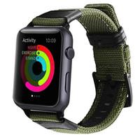 compilación de manzana al por mayor-Para Apple Watch Band Correa Pulsera Correa de nylon tejida para iwatch Series 1 2 3 bandas Soft Fabric Loop Wristband Adaptador incorporado