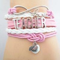 ingrosso amanti dell'amore-Braccialetto di amicizia Infinity Love Charm Teacher Braccialetti B09460