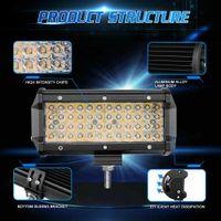 chip cuádruple al por mayor-Par 7Inch Quad-Fila 672W LED de trabajo Barra de luz del proyector de dos colores Cree fichas SUV XY19