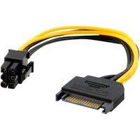pci e express toptan satış-Ecosin2 Bilgisayar Kabloları Konnektörler 15pin SATA Güç Ekran Kartı Oct16 için PCIe PCIe PCI Express Adaptör Kablo 6PIN için