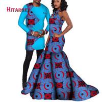 robe de couple achat en gros de-couples africains costume costumes hommes et robe des femmes pour le mariage / fête traditionnelle africaine vêtements couples costume vêtements WYQ122