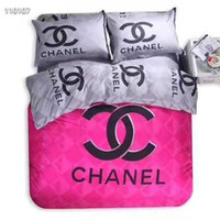 Wholesale bedding sets comforters for sale - Group buy Branded Winter Polyester Cotton Bedding Set Designer Sheet Duvet Cover Pillowcases Home Textiles Comfortable Bedclothes