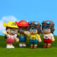 Wholesale japanese toys for kids for sale - Group buy 4pcs Arale Japanese Cartoon Model Miniature PVC Action Figures Anime Dr slump Mini Dolls Figurines Decoration Kids Toys for Children
