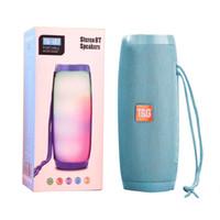 Wholesale mini boombox resale online - TG157 LED wireless Bluetooth Speaker Portable Mini Column Waterproof Fm Radio Boombox Subwoofer Sound Box Mp3 USB Phone Computer Bass DHL