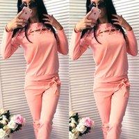 ingrosso vestito nero grigio nero-Rosa Grigio Nero Rosso Abiti da jogging per abbigliamento donna Tuta sportiva Donna Tuta sportiva Tuta da corsa Completo con cappuccio Pantaloni Set di abbigliamento
