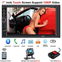 micro dvd player großhandel-Multimedia Autoradio 2 Din Central Multimidia Rückfahrkamera 2Din 7 '' Touchscreen Bluetooth Musik Movie Player Autoradio NEU Auto DVD