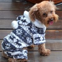ropa para perros al por mayor-Perro de mascota de Halloween Chiristmas cero 1PC ropa caliente del perrito Mono con capucha Escudo perrito ropa animal de la historieta invierno caliente