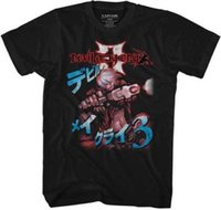 Wholesale japanese video games online - Devil May Cry Japanese Lettering Capcom Video Game Adult T Shirt