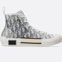 ingrosso scarpe di tela scarpe pu sole nero-Fiori tecnico B23 High-Top sneaker in bianco obliquo e nero suola in gomma di alta qualità di lusso scarpe donna uomo designer scarpe Zx42