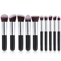 Wholesale muti tool resale online - 10Pcs Fashion Portable Multifunctional Soft Make Up Brush Set Colors Wooden Make Up Tool Muti function Makeup Brushes