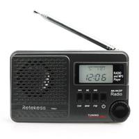 Wholesale mp3 player speakers radio resale online - Retekess TR601 FM AM SW Pocket Radio Digital DSP Clock Radio Receiver MP3 Player K K Tuning Micro SD Card Port USB Input