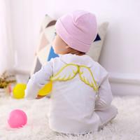 bebek gazlı bez havlu toptan satış-Bebek Melek Kanatları Ter Havlu 6 Katmanlar Pamuk Gazlı Bez Önlükler Bebek Kumaş Ter Bandı Önlükler Burp Bezleri GGA2451