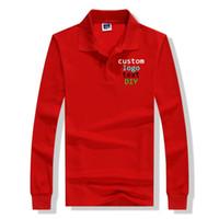 рабочая форма печати оптовых-Solid Black color Long Sleeve Men Women Custom logo Text printed Cotton shirt buttons up Company Team working uniform tops tees