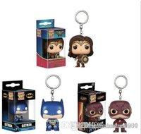 figura de batman brinquedos venda por atacado-Sorte Funko bolso POP Keychain - O flash Batman DC Vinil Figura Porta-chaves com caixa de brinquedos presente Boa Qualidade
