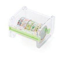 ingrosso nastro giapponese per-1 PC Utile Cancelleria giapponese Nastro per mascheratura Cutter Washi Tape Storage Organizer Cutter Dispenser per ufficio Forniture per ufficio