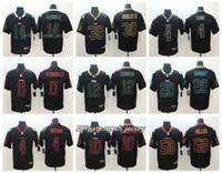 jersey des patriotes noirs achat en gros de-Black Shadow Jets Maillot Rams Denver Maillot Broncos Patriots Panthers Raiders Couleur Rush Maillots De Football