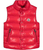 bebek yelek toptan satış-Hi-Q (yüksek kalite) M marka Çocuklar Kış Kalınlaşmak Yelekler Bebek Çocuklar Için 90% Ördek Aşağı Ceket Yelek Ceket 110-150 cm